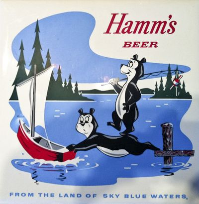 Hamms Beer Ad From the Land