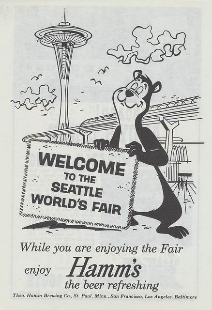Hamms Beer Ad  Seattle Worlds Fair