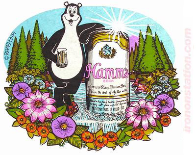 Hamms Beer Ad Flowers